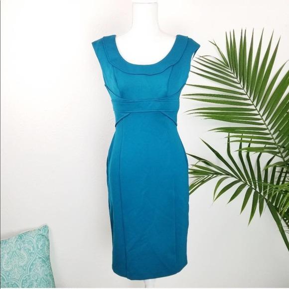 Maggy London | Teal Blue Sheath Dress Size 6